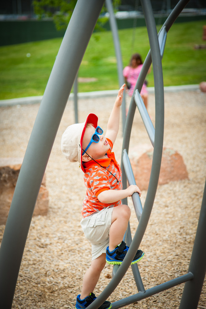 Child playing on a playground