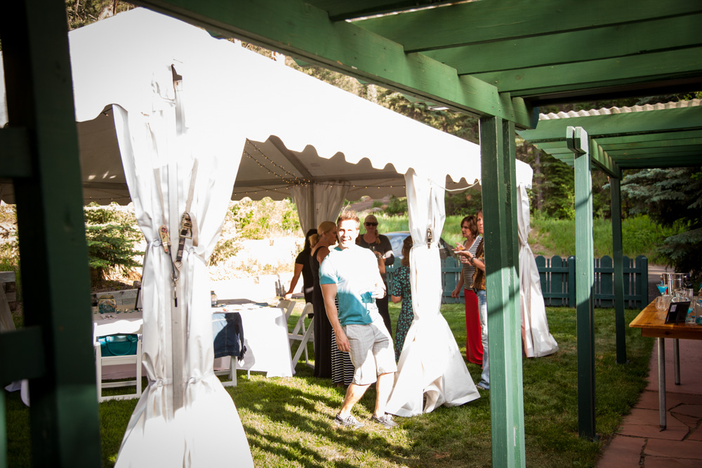 Photograph of a tent at an event